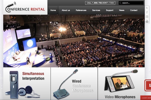Conference Rental Lauches New Website