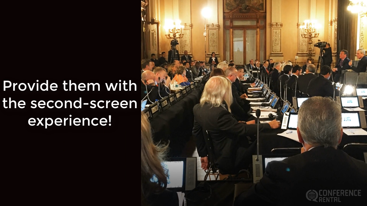 Second Screen Experience - Conference Rental