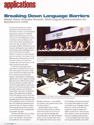 Breaking Down Language Barriers SportAccord